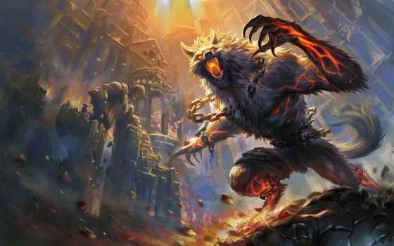 Photo free Smite, werewolf, rage
