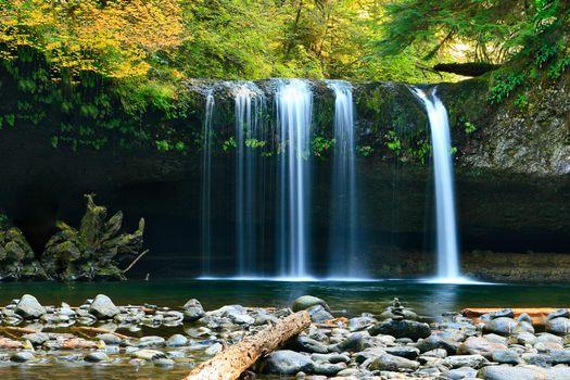 Photo free pond, rock, stream