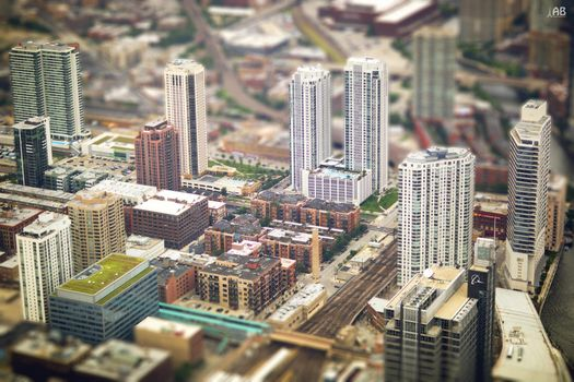 Фото бесплатно США, Чикаго, вид сверху