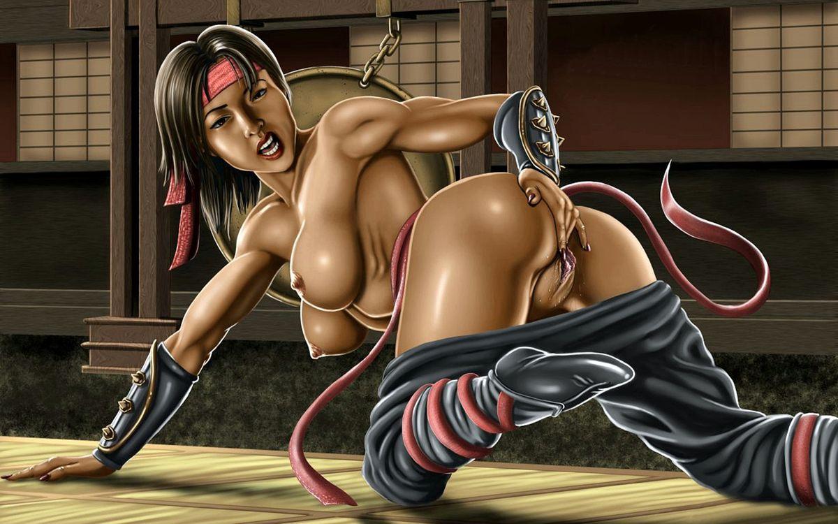 Секс мортал комбат пародия, Mortal Kombat xxx 3D Пародия. Джейд, Китана, Милена 23 фотография