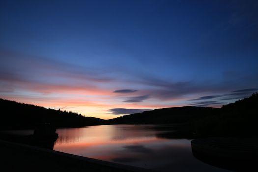 Заставки горы, ночь, отражение