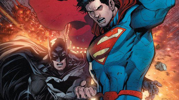 Фото бесплатно бэтмен, dc комиксы, супермен