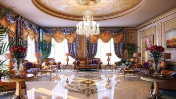 Фото бесплатно вазы, диван, гостиная