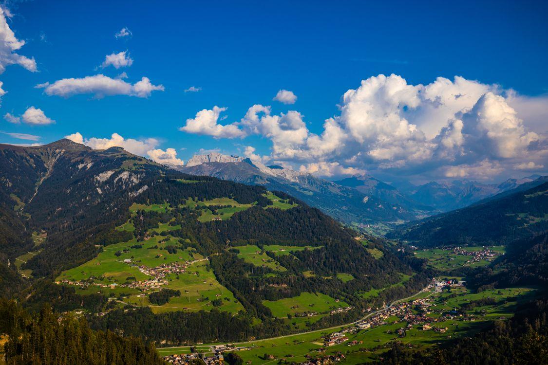 Фото горы облака горы облака альпийские - бесплатные картинки на Fonwall