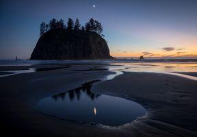 Фото бесплатно закат, море, отлив