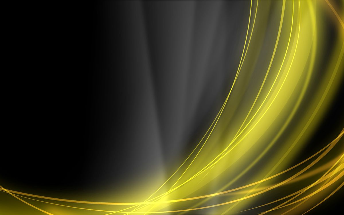 Желтые линии на черном фоне · бесплатное фото