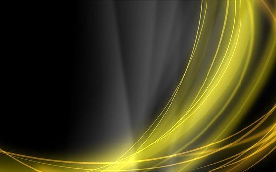 Yellow lines on a black background · free photo