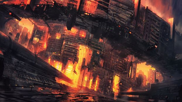 Photo free cyberpunk, city, conceptual art