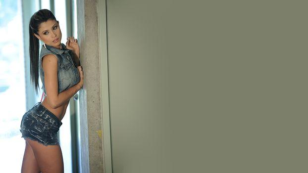 Фото бесплатно Даниэла Джарамильо, брюнетка, модель