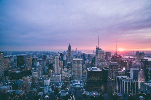 Photo free dusk, evening, panorama