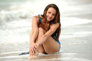 Бесплатные фото Vittoria A, блондинка, xxx, модель, Виттория, море, пляж