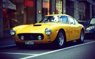 Фото бесплатно Феррари, ретро, желтый