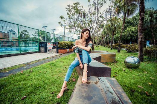 Photo free girls jeans, asian, girls