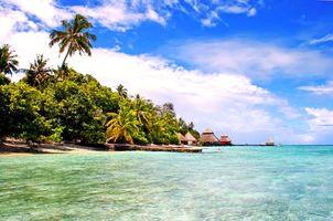 Бесплатные фото Мальдивы, тропики, море, остров, пляж, отдых