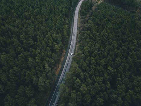 Заставки дорога, деревья, вид сверху