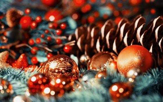 Фото бесплатно рождественские украшения, украшения, близко