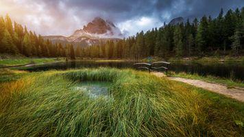 Бесплатные фото Lake Antorno,Итальянские,Доломитовые Альпы,озеро Анторно,горы,лес,деревья