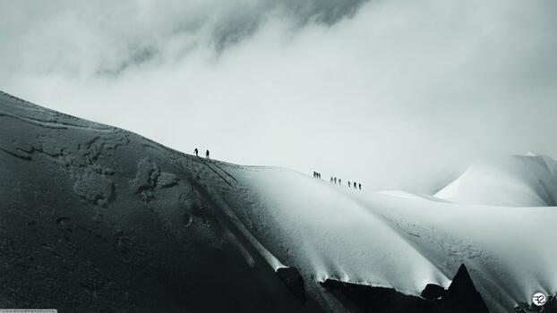 Photo free landscape, monochrome, hill