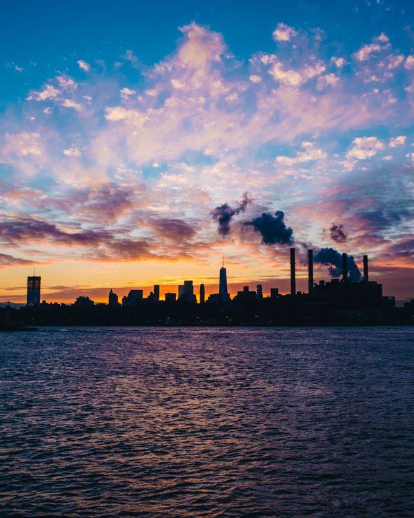 Фото бесплатно Нью-Йорк, США, вечер - на рабочий стол