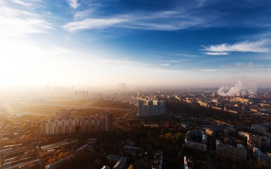 Photo free Russian, Moscow, aerial view