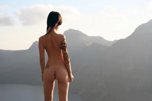 Photo free Asian, tattoo, ass