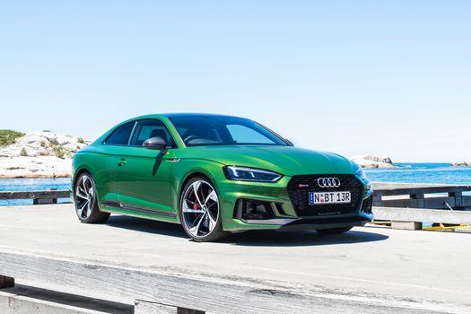 Photo free green car, automobiles, Audi