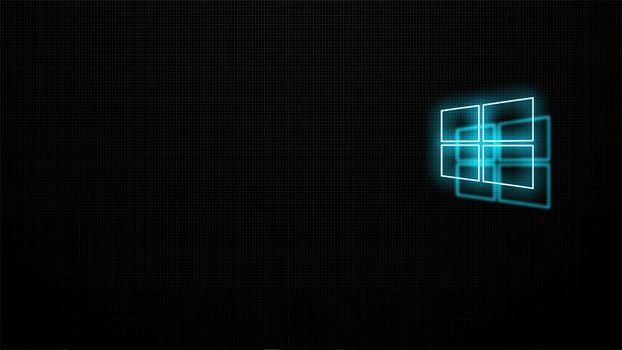 Photo free screensaver, black background, computer