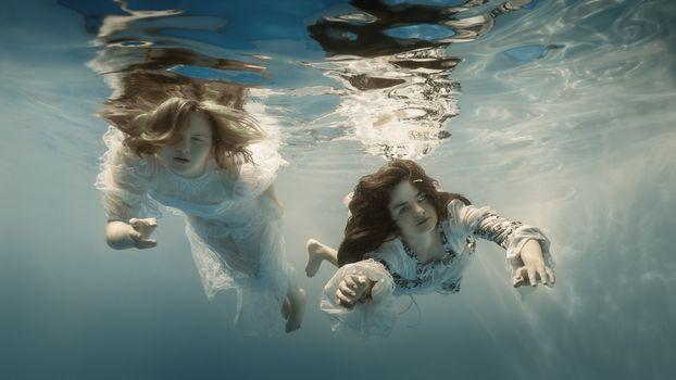 Фото бесплатно 500px, подводный мир, женщины