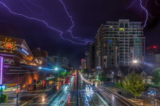 Заставки город, серия ночных городов, плохая погода