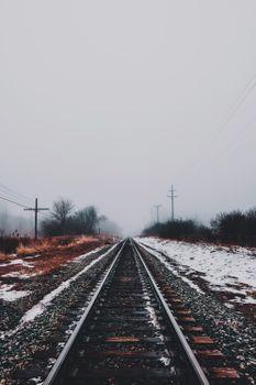 Бесплатные фото железная дорога,зима,снег,railway,winter,snow