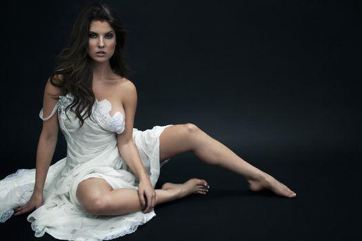 Photo free Amanda Cerny, white dress, girls