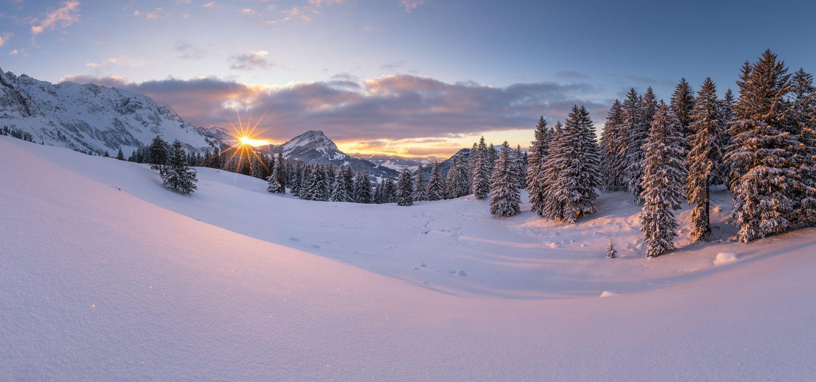 Фото бесплатно Швегальп Швейцария зима - на рабочий стол