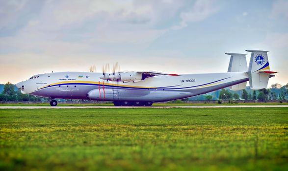 Photo free field, grass, antonov airplane