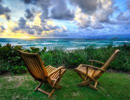 Фото бесплатно природа, море, два