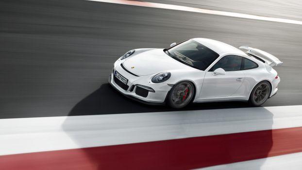 Фото бесплатно porsche 911 gt3 rs, белый, суперкар