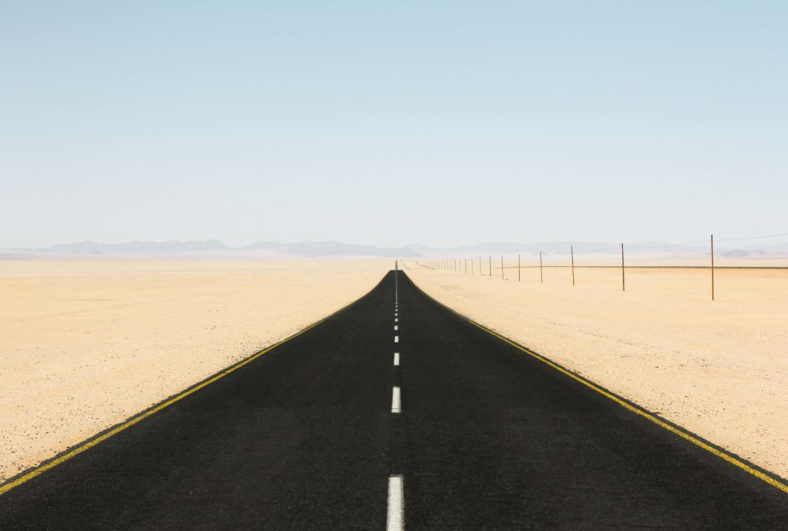 Free photo road, desert, sand - to desktop