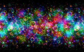 Photo free stars and bubbles, bubbles, spheres