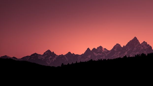 Заставки Гранд Тетон национальный парк, закат, холмы