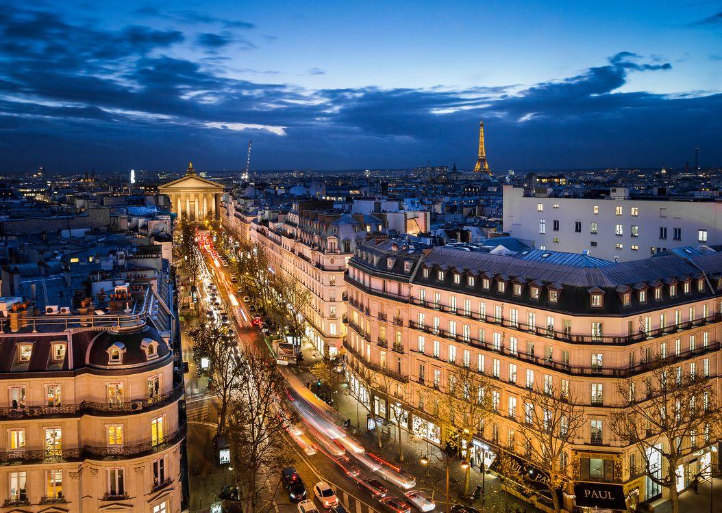 Ночной Париж · бесплатное фото