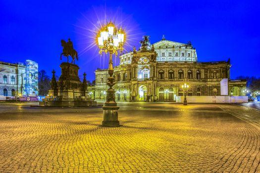 Заставки Dresden, Germany, ночь