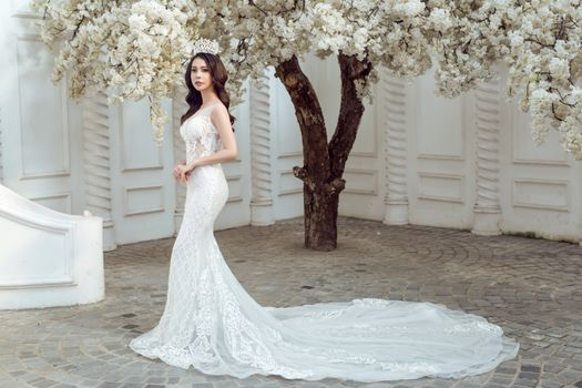 Фото бесплатно девушки, свадебное платье, белое