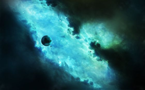 Фото бесплатно звезды, туманность, красочный пейзаж