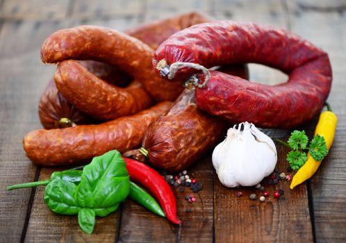 Фото бесплатно колбаса, мясо, овощи