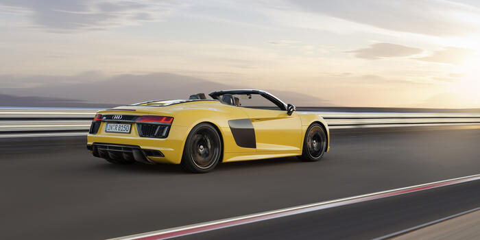 Фото бесплатно Audi R8, Audi, вид сзади