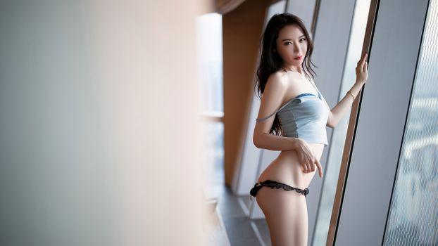 Фото бесплатно брюнетка, азиатка, красота