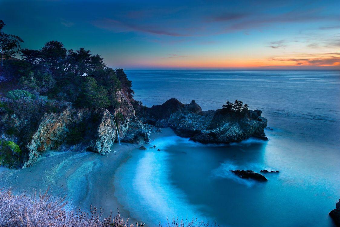 Фото бесплатно Пляж Бухты Маквей, берег, Джулия Парк Пфайфер Берн - на рабочий стол
