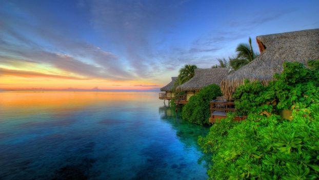 Photo free sea, vacation, bungalow