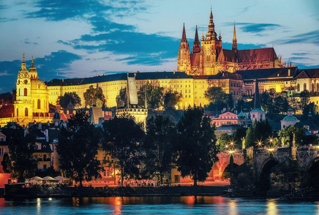 Обои Прага, Чехия, Река Влтава картинки на телефон