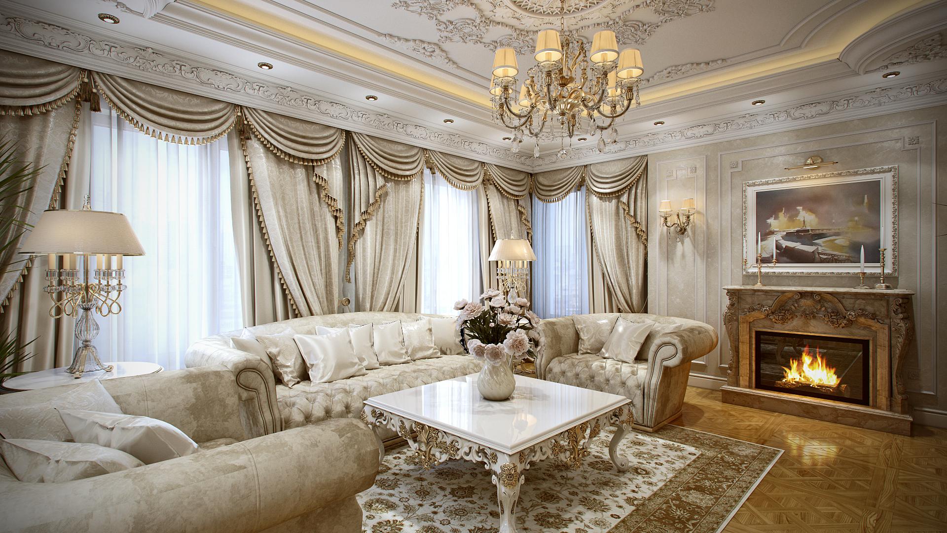роскошная гостиная в хорошем качестве