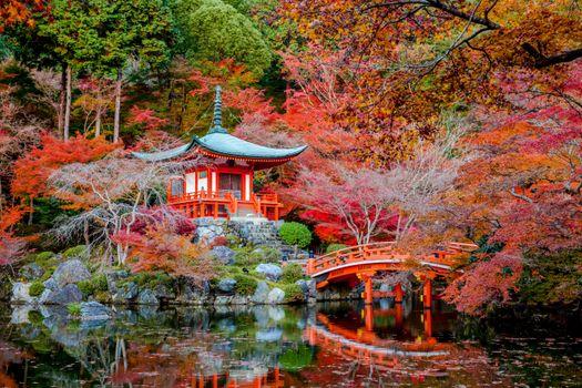 Фото бесплатно японцы, храм, мост